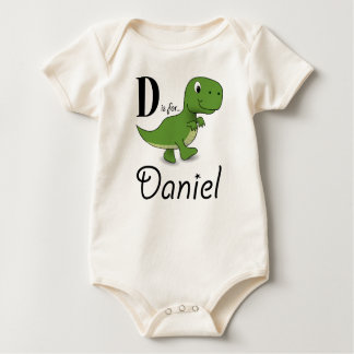 D är för Daniel Dinosaurutslagsplats Sparkdräkter