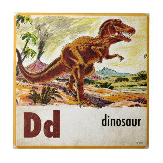 D är för Dinosaur Liten Kakelplatta