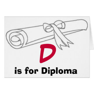 D är för diplomkort hälsningskort