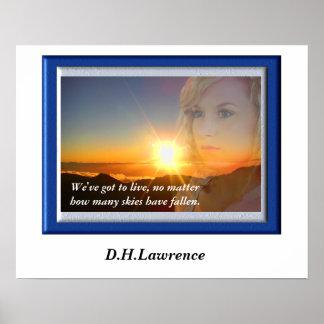 D.H. Lawrence - citationstecken Poster