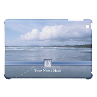 D - Monogram - spektakulär havvågar och strand iPad Mini Mobil Fodral