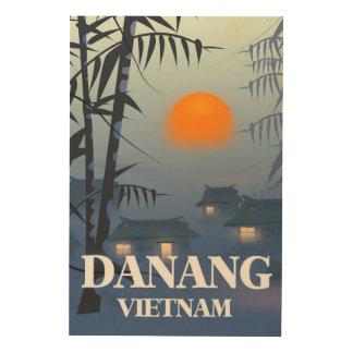 Da Nang Vietnam reser affischen Trätavla