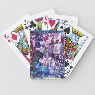 Däck av våren som leker kort spelkort