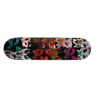 Däck för demonansikteskridsko skate board
