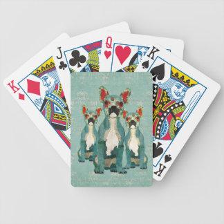 Däck för kort för bulldoggar för vintageblått spelkort