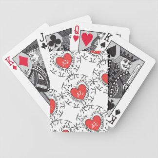 Däck för kort för design för Math för kärlekPi Spelkort
