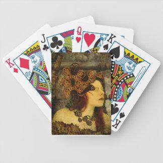 däck för kort för mall för steampunkcykelkort spelkort