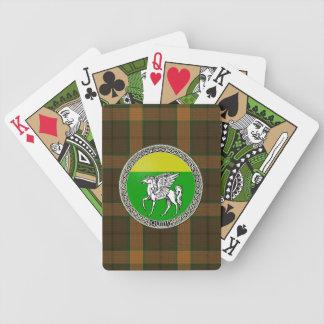 Däck för kort för Quinn familjemblem Spelkort