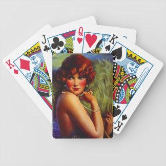 Däck för kort för utvikningsbild för pinup för vin spelkort