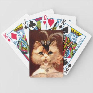 Däck för kort för Victorianmottagningsrumkatt Anth Spelkort