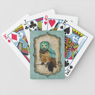 Däck för Smokey rosa ugglakort Spelkort