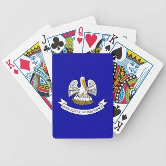 Däck som leker kort med flagga av Louisiana Spelkort