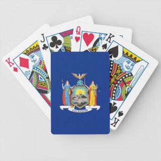 Däck som leker kort med flagga av New York Spel Kort