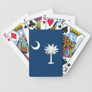 Däck som leker kort med flagga av South Carolina Spelkort