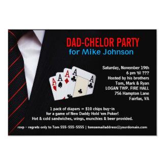 Dadchelor - sofistikerade pokerpartyinbjudningar 12,7 x 17,8 cm inbjudningskort