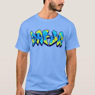 Dafuq grafittiblått och gult tröja