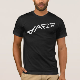 Dafuq metar vit på svart t-shirts