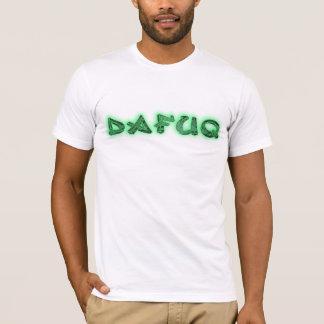Dafuq tunnelbanagrönt tee shirt