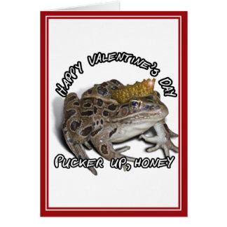 Dag för grodaPrince För Valentin Hälsningskort