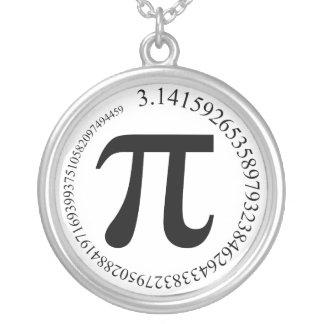 Dag för Pi (π) Silverpläterat Halsband