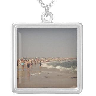 Dag på stranden silverpläterat halsband
