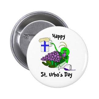 Dagen för St. Urhos knäppas - den berusade gräshop Standard Knapp Rund 5.7 Cm