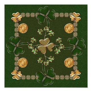 Dagfirande för St. Patricks Fyrkantigt 13,3 Cm Inbjudningskort