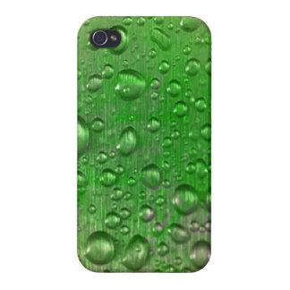 Dagg tappar det glansiga fullföljandefodral för iPhone 4 cover