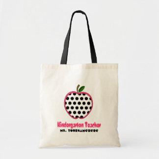Dagislärare hänger lös - polkaen pricker Apple Budget Tygkasse