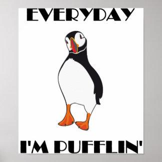 Daglig fågel för I-förmiddagPufflin Puffin Poster