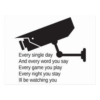 Daglig I-förmiddag som håller ögonen på dig Vykort