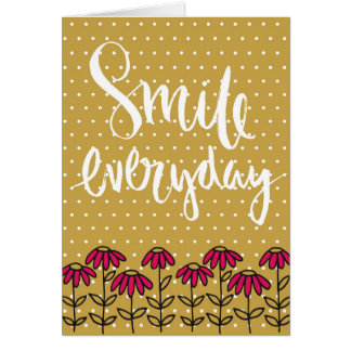 """""""Dagligt leende """", Hälsningskort"""