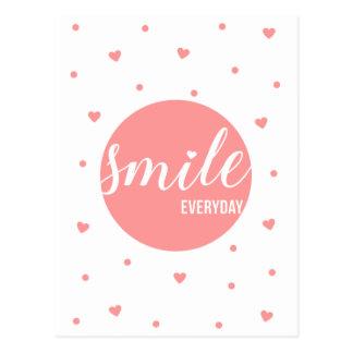 Dagligt leende vykort