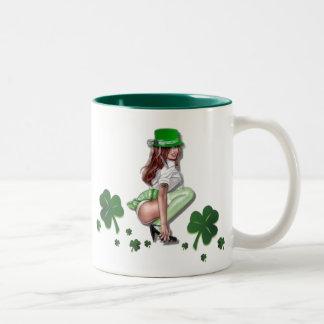 Dagmugg för St. Patricks Två-Tonad Mugg