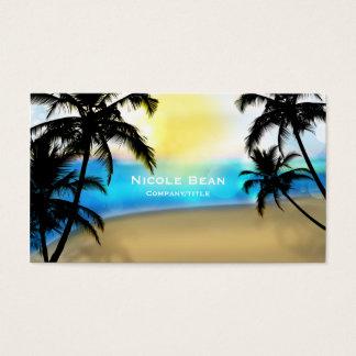 Dagstrand & tropisk visitkort för palmträd