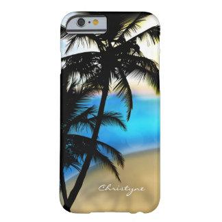 Dagstrand & tropiskt mobilt fodral för palmträd barely there iPhone 6 skal