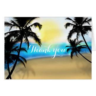Dagstrand & tropiskt tackkort för palmträd OBS kort