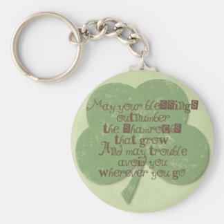Dagvälsignelse för St. Patricks Rund Nyckelring