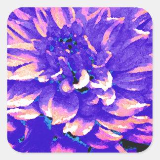 Dahlia - bröllopsresa - lilor fyrkantigt klistermärke