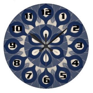 Dahliablomma för modern design stor klocka