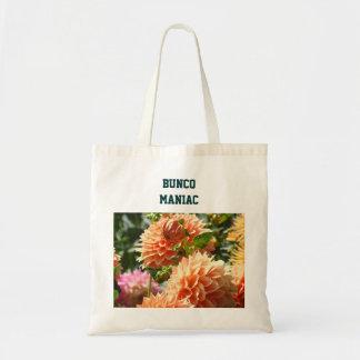 Dahliaen för Bunco galningtote bags blommar Tygkasse