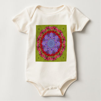 Dahlias & Clematis på att rotera gröna löv Body För Baby