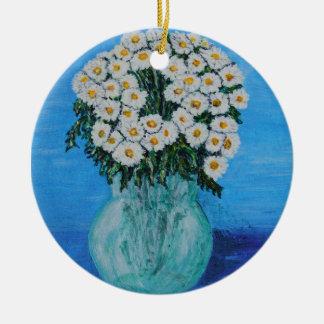 Daisy för Ditte Rund Julgransprydnad I Keramik