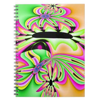 Daisy för Fractalblommavild Anteckningsbok Med Spiral