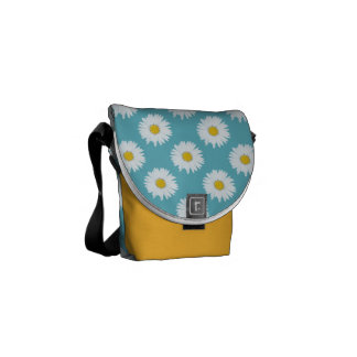 Daisy på blått kurir väskor