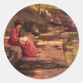 Daisy vid floden av Theodore milda Steele Runt Klistermärke