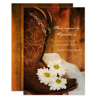 Daisycowboyen startar westernt bröllop OSA för 8,9 X 12,7 Cm Inbjudningskort