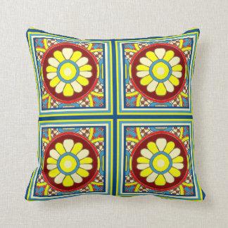Daisyn belägger med tegel dekorativ kudde