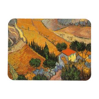 Dal med ploughmanen av Vincent Van Gogh Magnet