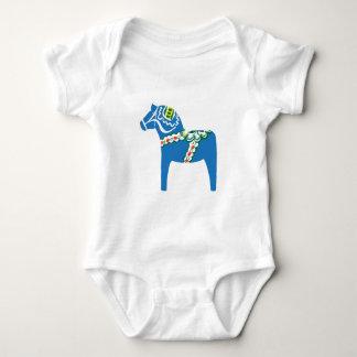 Dalahäst   Dala hästblått T Shirts